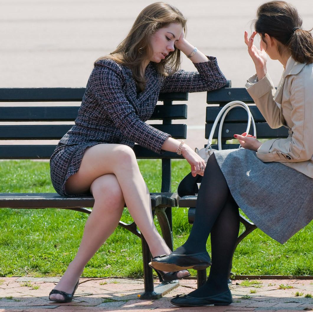 fashion tights skirt dress heels : candid street fashion 1