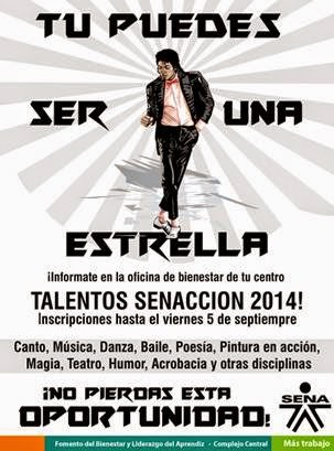 Inscribete a TALENTOS SENACCION