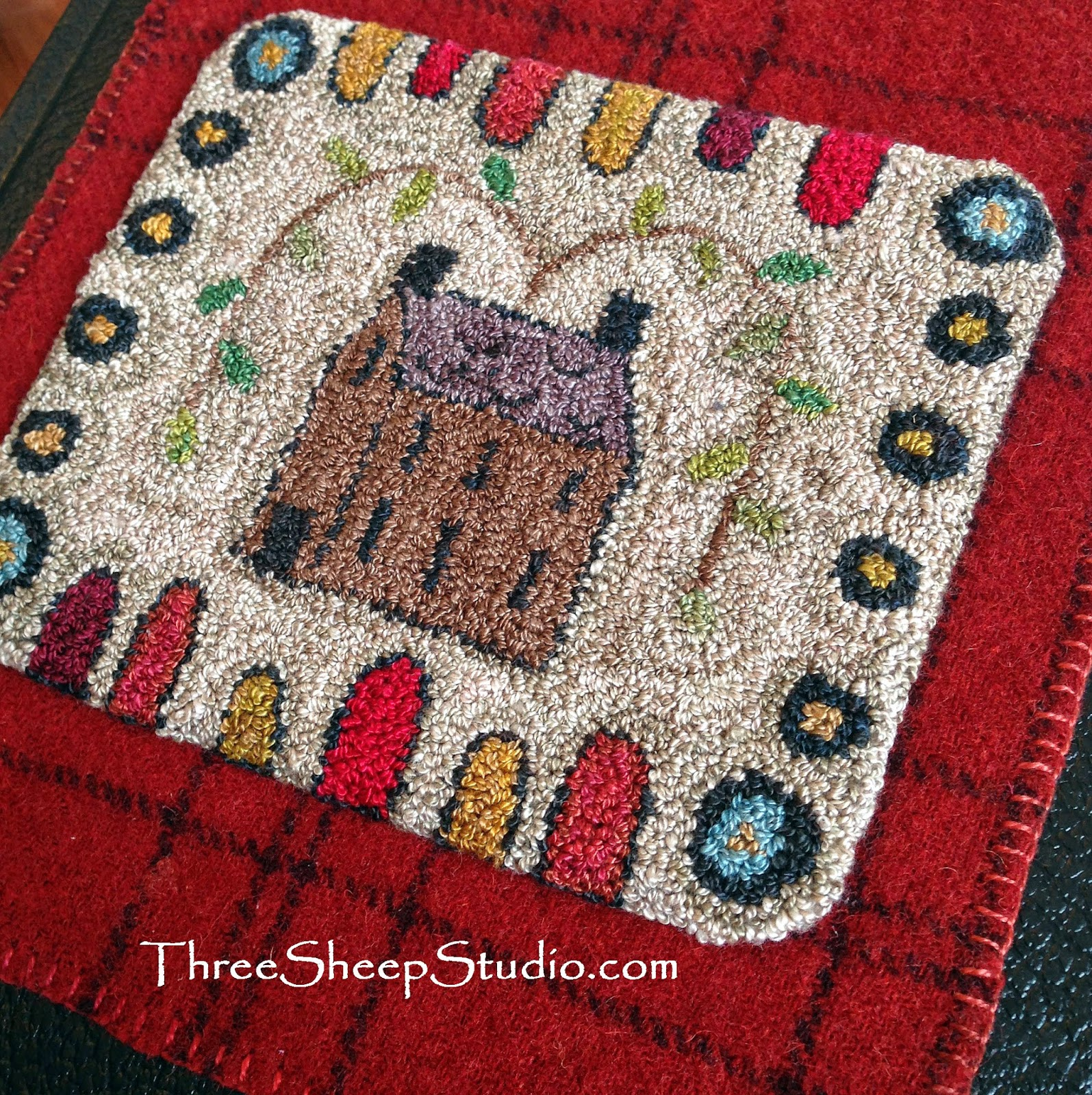 'Summer House' Punch Needle design by Rose Clay / ThreeSheepStudio.com