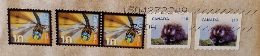 francobolli canadesi Porcupines & Aeshna Canadiensis