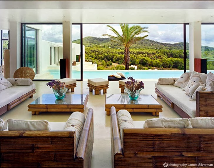 Living room in Ibiza dream home by Jaime Serra