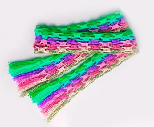 Вязание шарфа крючком для начинающих