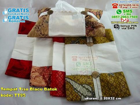 Tempat Tisu Blacu Batok Kain Blacu Batik