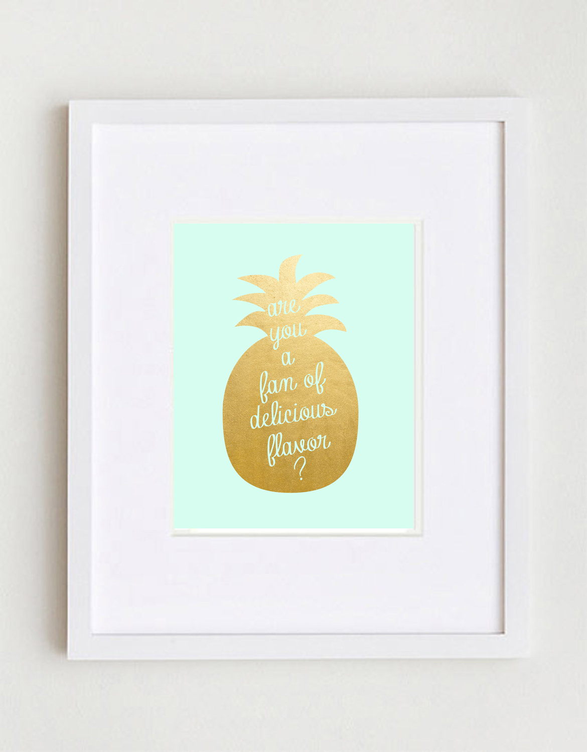 are you a fan of delicious flavor? diy pineapple canvas art
