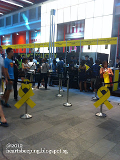 Yellow Ribbon 2012 Race Pack Collection @ Orchard Central