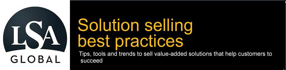 Solution selling training best practice blog | LSA Global
