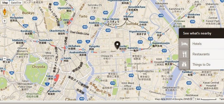 Sumida Triphony Hall Tokyo Location Map