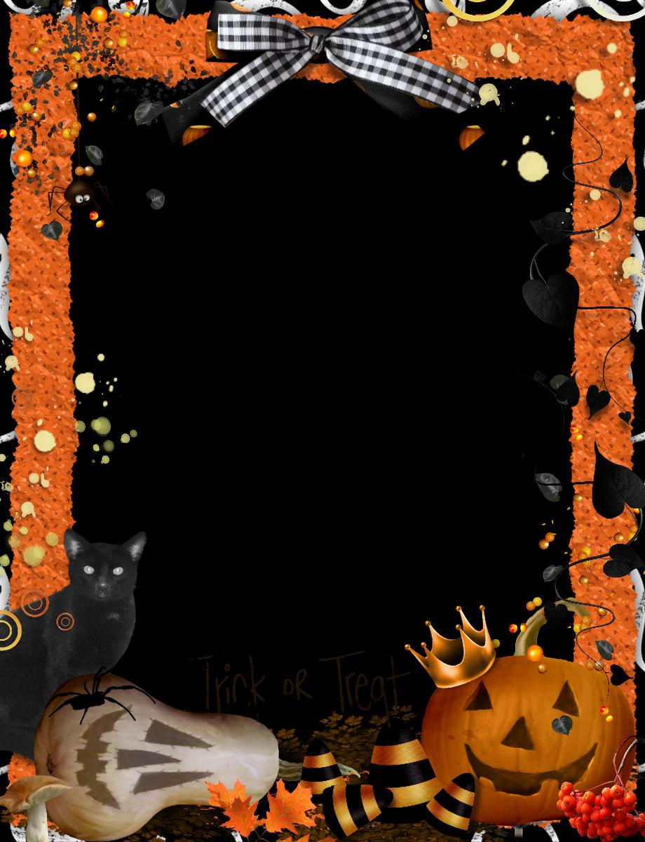 Orange Halloween Borders and Frames