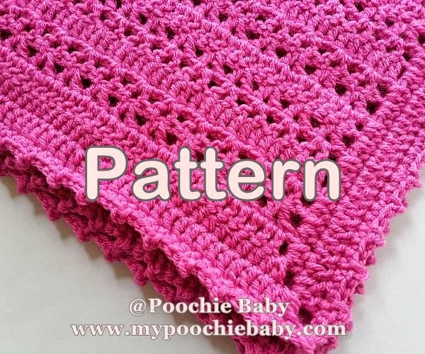 Crochet Patterns One Skein : Raising Mimi @PoochieBaby: One Skein Baby Blanket Crochet Pattern