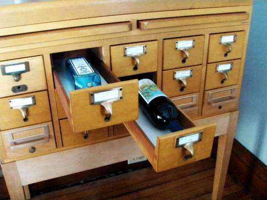 Teach Your File Cabinet to Accommodate Wine Bottles