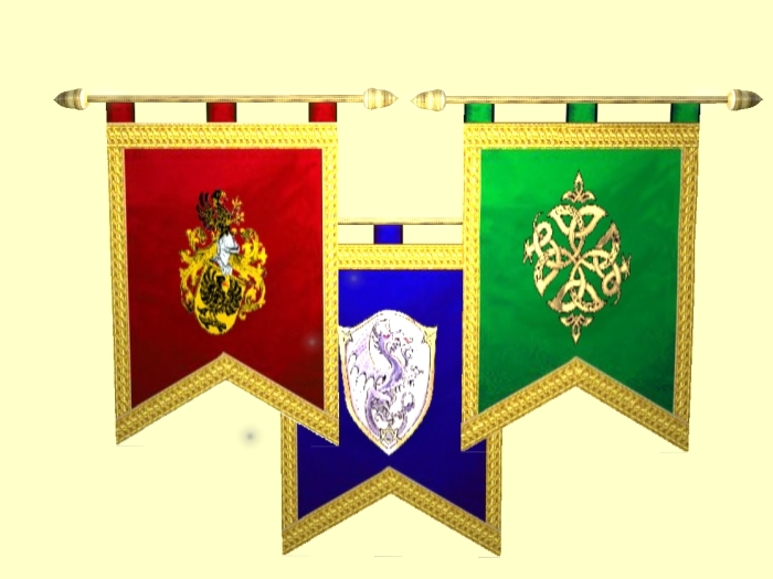 Banners were everywhere during Medieval times, on castles, in battles ...