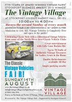 NEXT EVENT : SUNDAY 14TH AUGUST STOCKPORT VINTAGE VILLAGE
