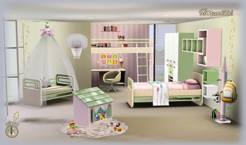 Kids Bedroom By Simscredible The Sims 3
