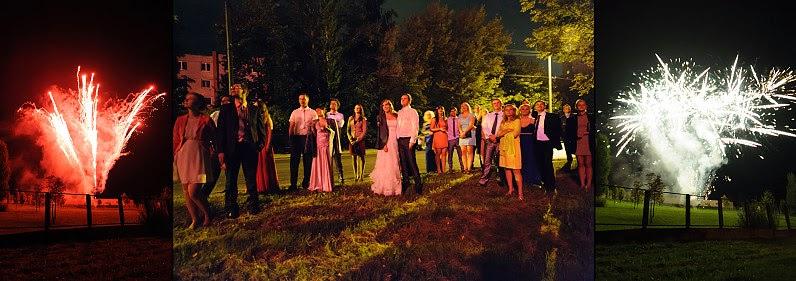 fejerverkai vestuvėms