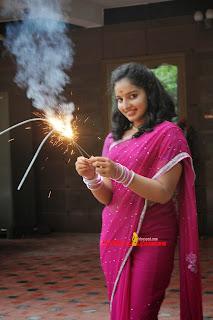 Malvika Menon Diwali Celebrations in Cute Saree Stunning Beauty