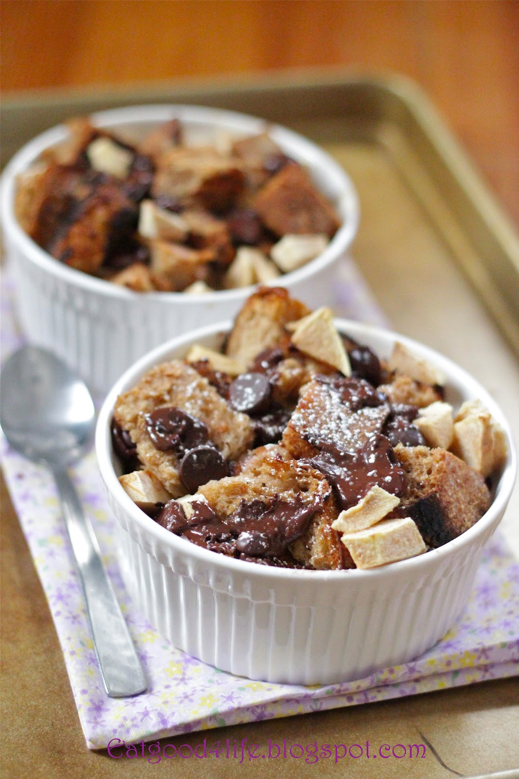 Dark chocolate and apple bread pudding | Eat Good 4 Life