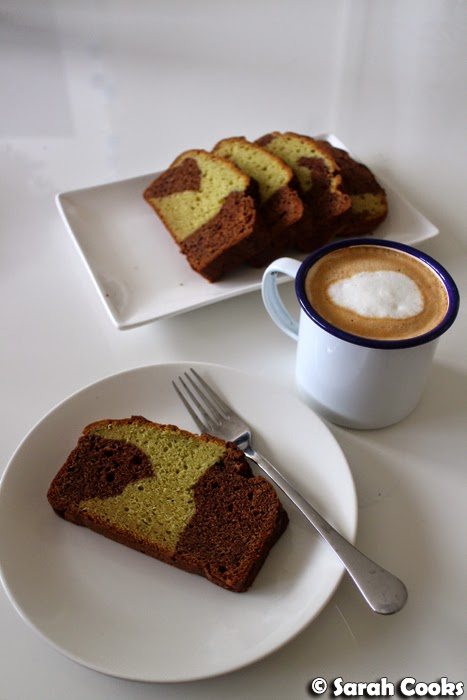 Sarah Cooks: Avocado Chocolate Marble Pound Cake