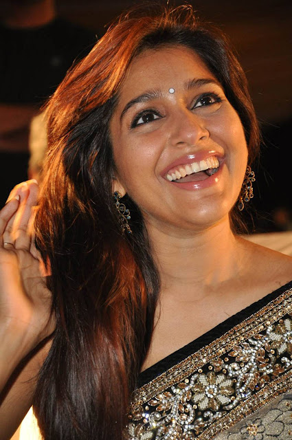 Rashmi Gautam Cute beautiful actress in Saree at Dhana Lakshmi Talupu Tadithe Audio Launch