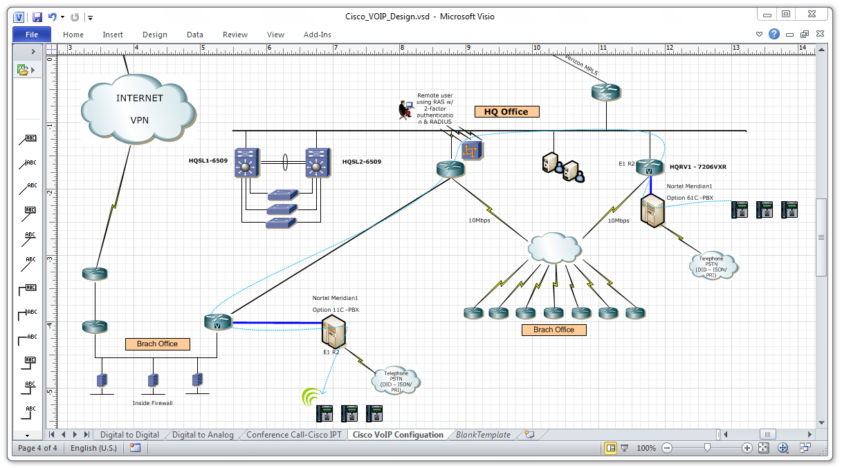 Drawing Lines In Visio : Ip pbx cisco system