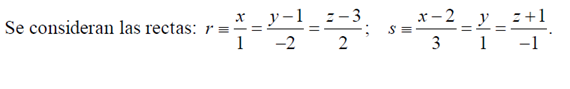 recta que corta perpendicularmente a otras dos