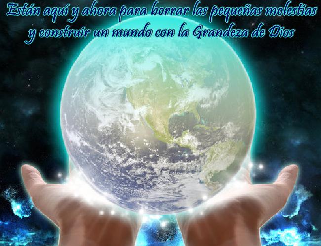 No encarnaron para buscar la perfección en el mundo, están aquí y ahora, para Ser la Grandeza y personificación de Dios.