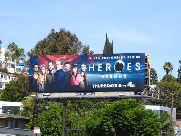 Heroes Reborn billboard