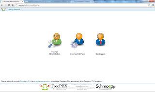 Intefaz web para FreePbx en la rasperri pi