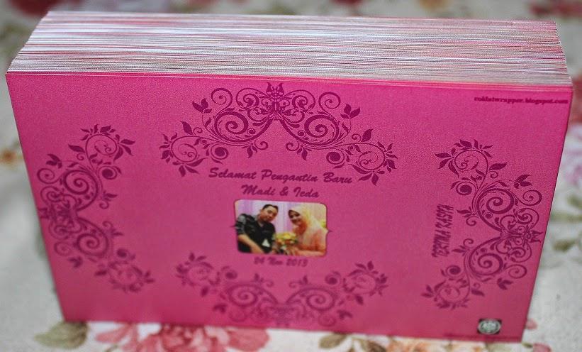 Coklat Wrapper untuk Majlis Perkahwinan Madi dan Ieda
