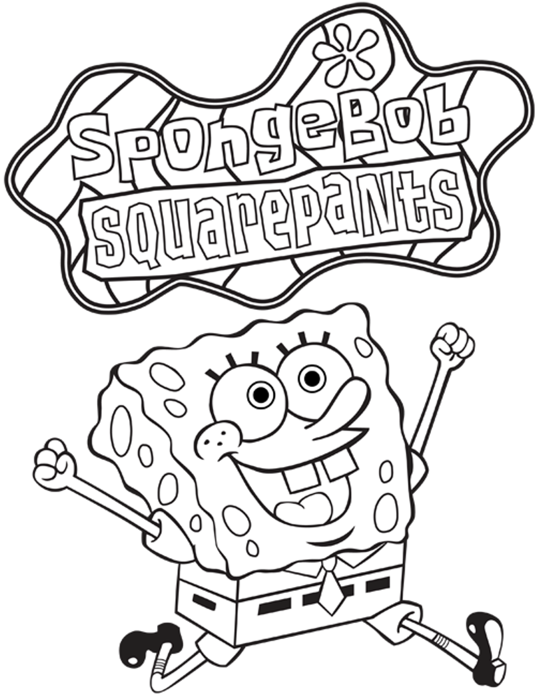 Free nickelodeon spongebob coloring pages for kids for Spongebob free coloring pages