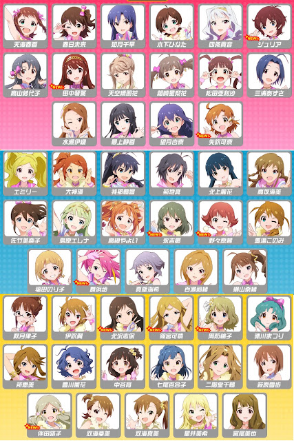 The Idolm@ster Million Live all 50 characters