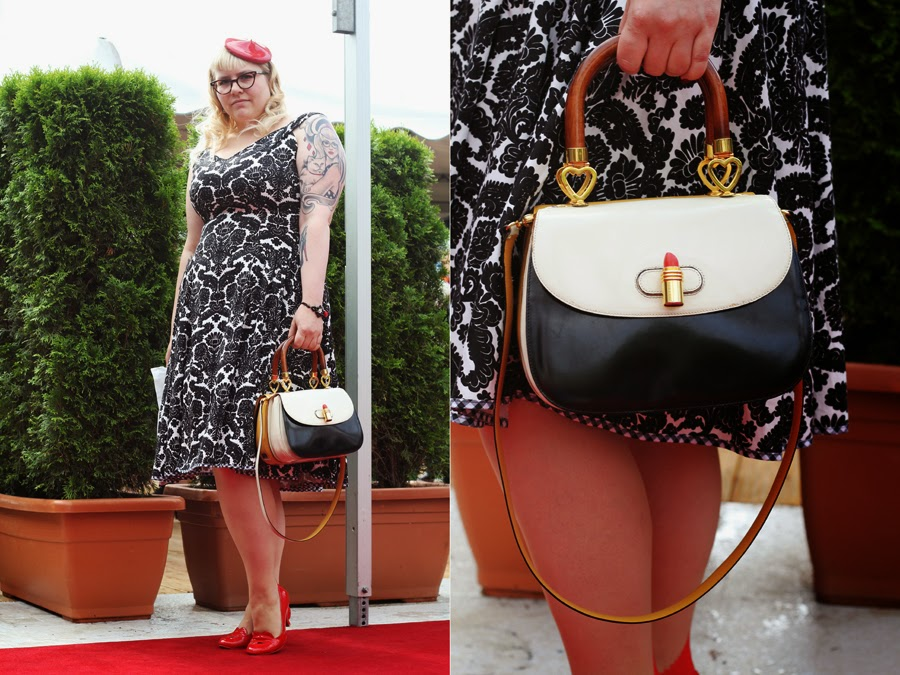 moschino pin up lena hoschek  street style mercedes benz fashion week berlin bag