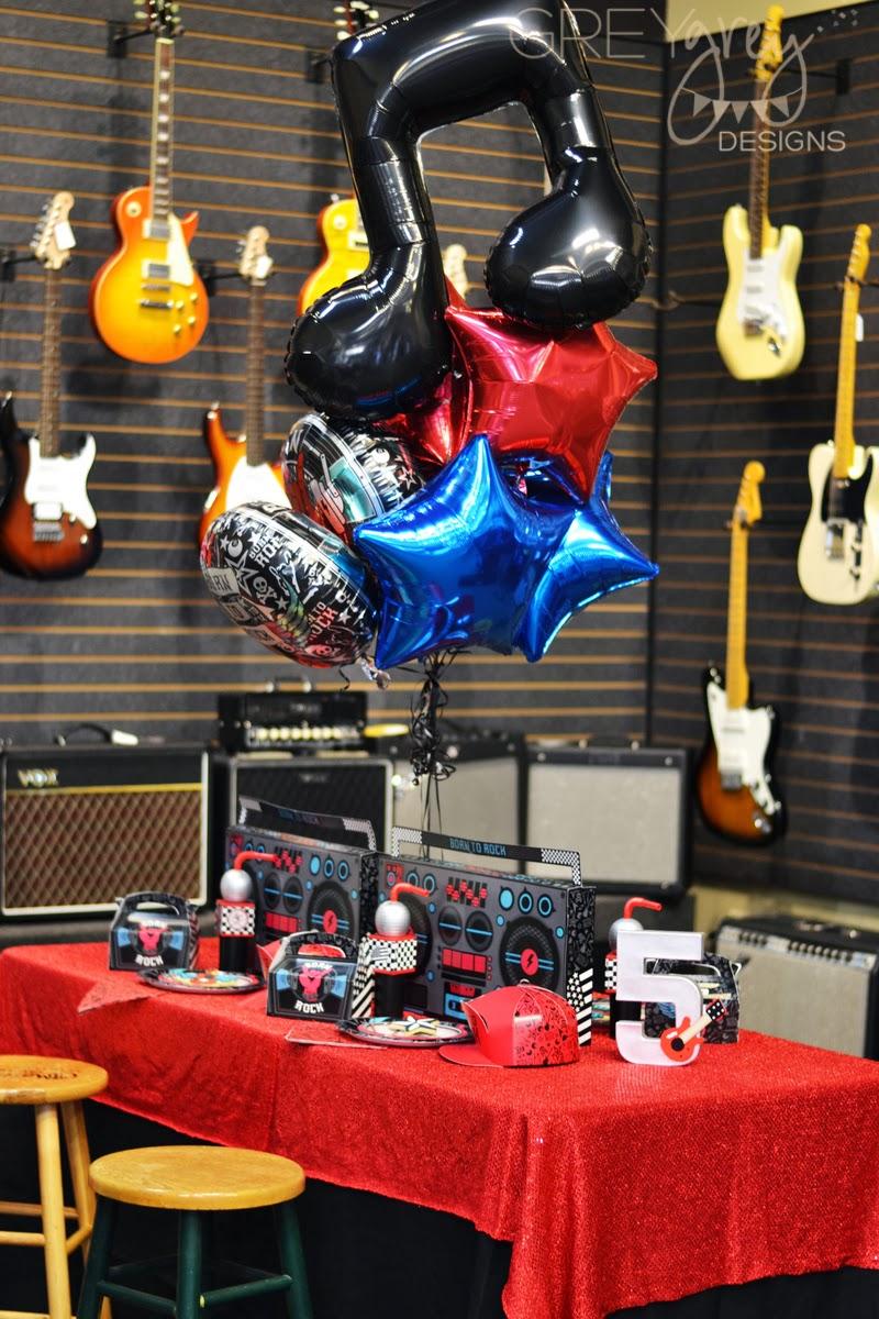 Greygrey Designs My Parties Born To Rock Party