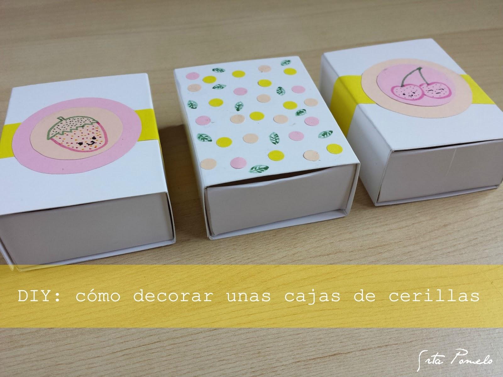 Srta Pomelo DIY cmo decorar unas cajas de cerillas
