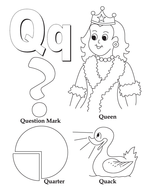 Preschool coloring pages letter q : Preschool Letter Q Coloring Pages