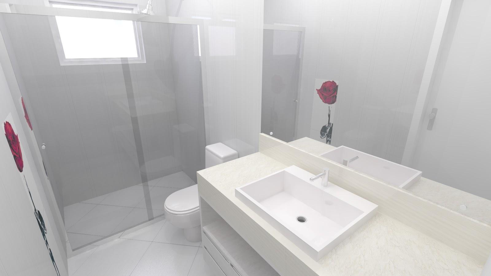 Este é o banheiro do casal com uma rosa na frente do vaso. Reparem no  #8C3F59 1600x900 Banheiro Casal Dois Vasos