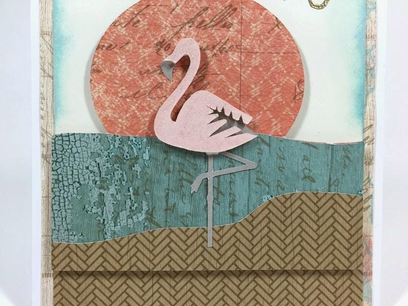 Cricut Happy Flamingo card