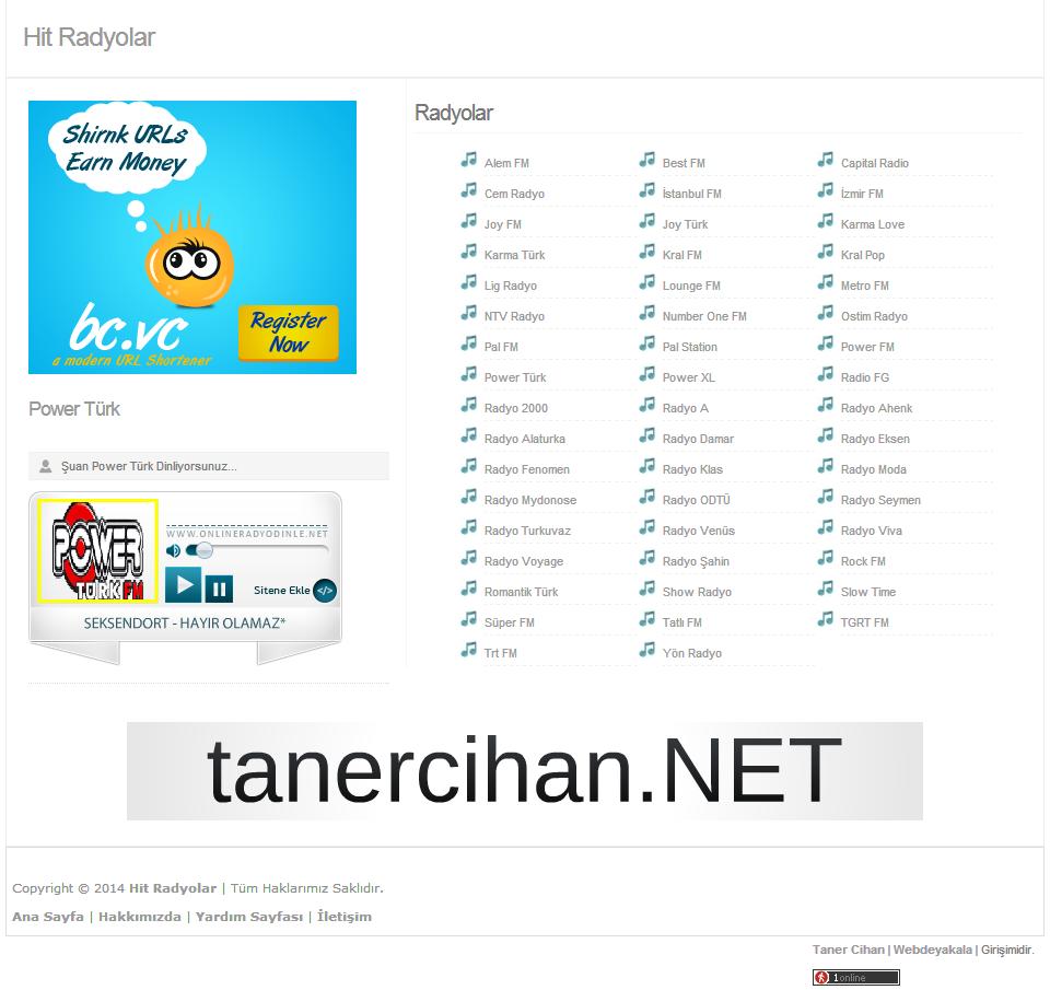 Blogger Radyo Teması v1 Yandex İndir