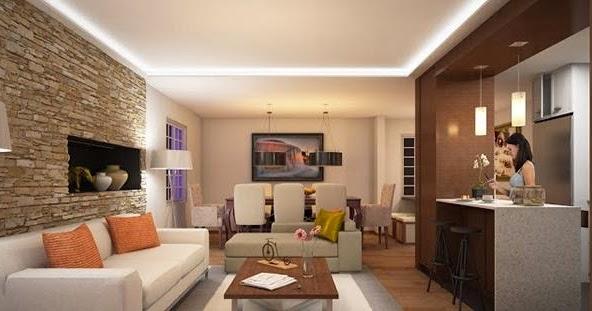 D coration salon avec des accents en briques d coration - Les chambres a gaz ont elles vraiment existees ...
