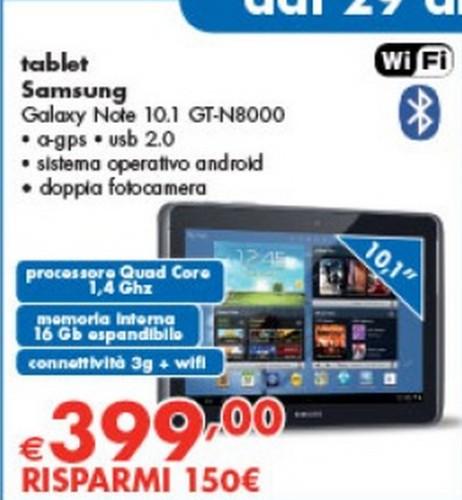 Panorama propone a 399 euro, prezzo tra i più bassi visti per questo prodotto, il Galaxy Note 10.1 N8000 per 3 giorni