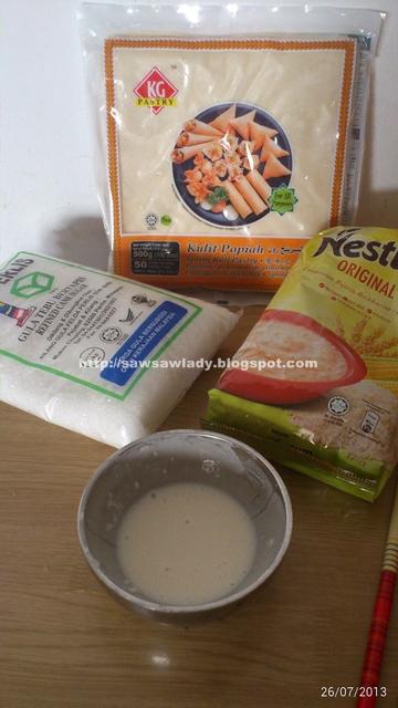 Bahan Popia Brand Pastry Nestum Original Gula Tapi Saya