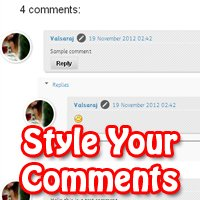 Style your Comments Block Blogger