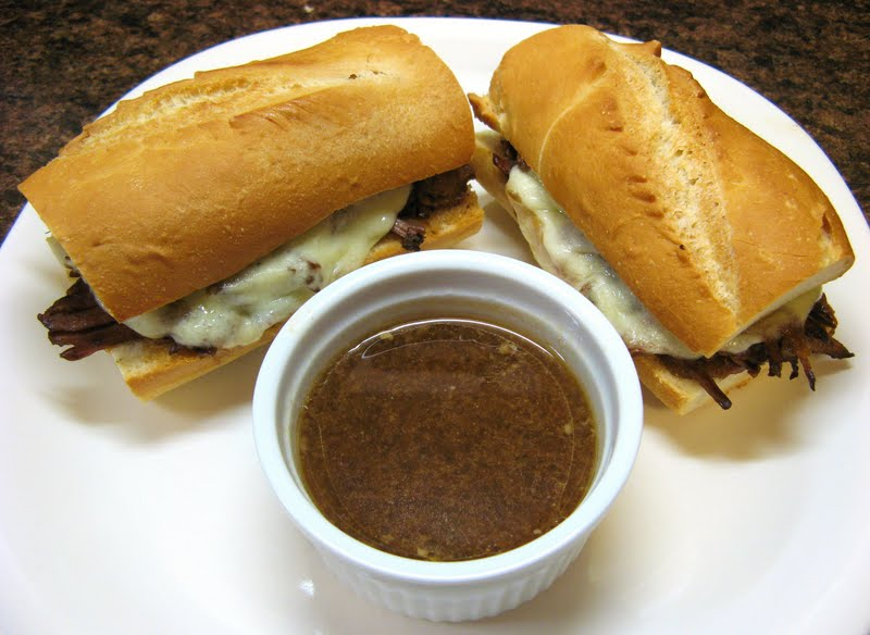 The Well-Fed Newlyweds: French Dip Sandwiches au Jus