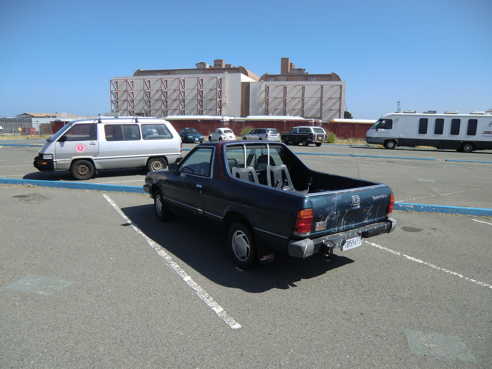 Tamerlane s Thoughts Carspotting Subaru Brat Toyota van