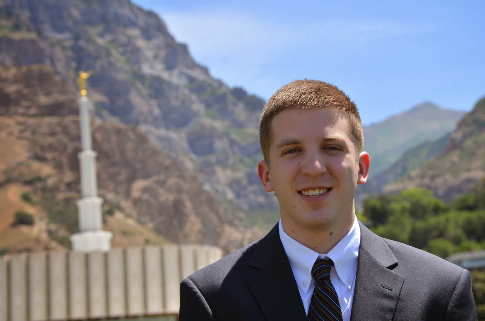 Keaton at Provo Temple