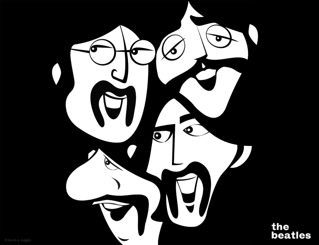 I Was Lucky Enough To Be Asked Create An Illustration That Would Featured On A Poster Celebrated The Beatles My Solution Re Imagine