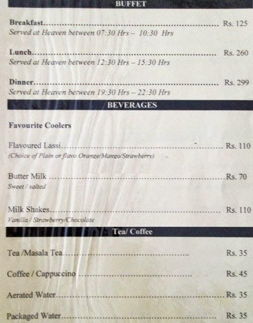 Veg Restaurants in Hyderabad Hotel Sadhvika Menu 3