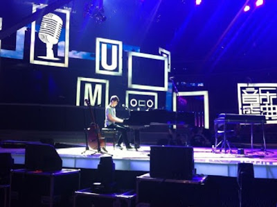 Greyson Chance rehearsing for his show in Beijing China 2012