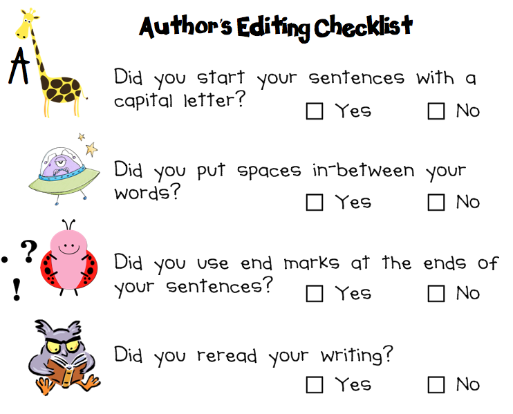 Essay editing checklist visual