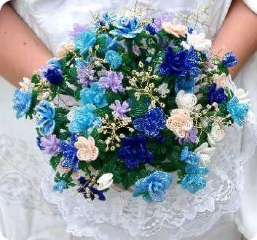 Flower Wedding Bouquet: French Bead Flower Making