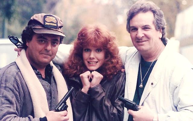 Foto dos bastidores: o diretor Guy Magar, Jamie Rose e Danny Aiello